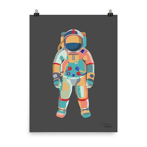 Astronaut - Print (grey)