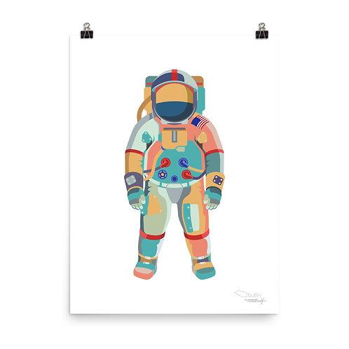 Astronaut - Print (white)