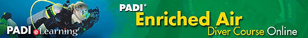 PADI's Enriched Air Nitrox eLearning banner