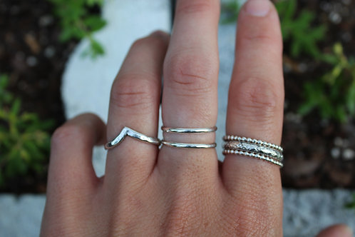 Sterling Silver Stacking Rings (Set of 2)