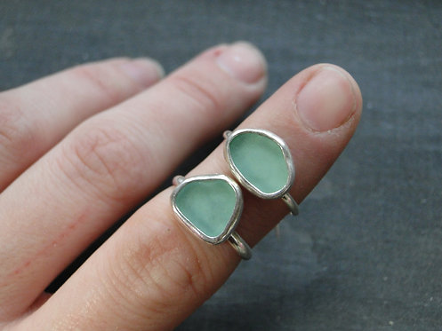 Create Your Own // Seafoam Green Sea Glass Ring