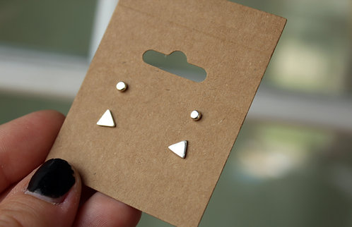 Triangle Stud Earring Set
