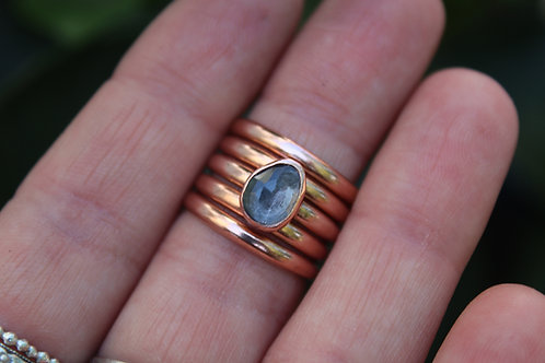 Blue Topaz + Copper (Choose Your Stack)