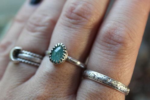 Zambian Emerald Ring   Size 8