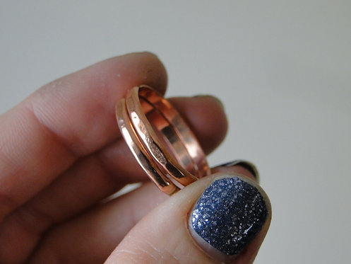 Hammered Copper Stacking Ring