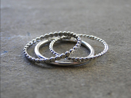 'Chaos' Stacking Rings (Set of 3)