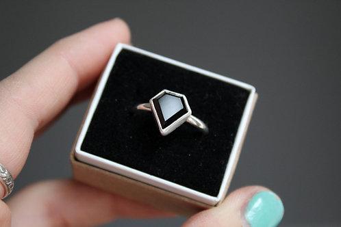 Black Onyx 'Diamond' Ring