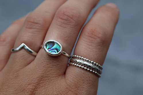 Create Your Own | Abalone Oval Ring