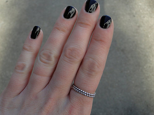 Studded Stack Rings (Set of 2)