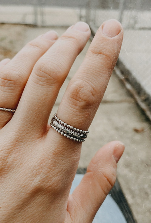'Serenity' Stacking Rings (Set of 3)