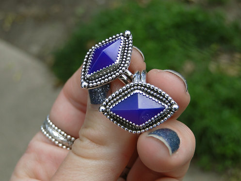 "Purple Chalcedony ""Jasmine"" Ring"