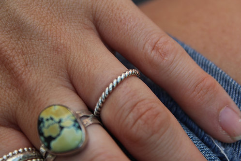 Twisted Rope Stacking Ring