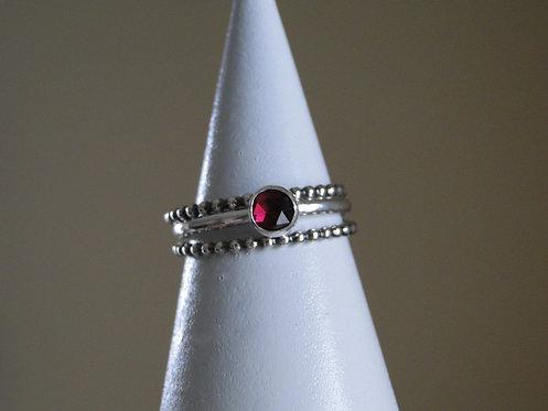 Garnet Gemstone Ring Stack (Set of 3)
