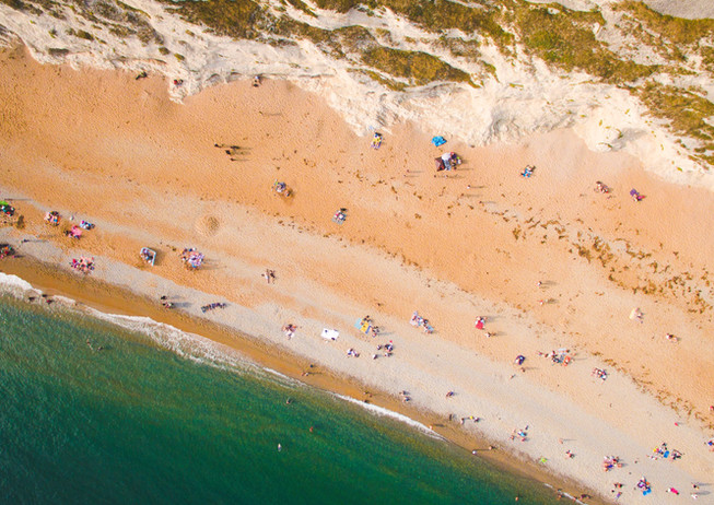 Coastal Beaches From Above