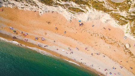 Photo aérienne d'un plage
