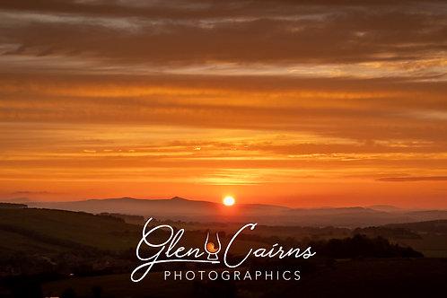 Bennachie Sunset  Print
