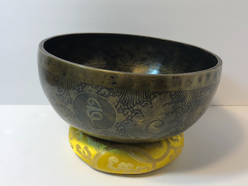 Hand-Etched, Hand-Hammered Singing Bowl