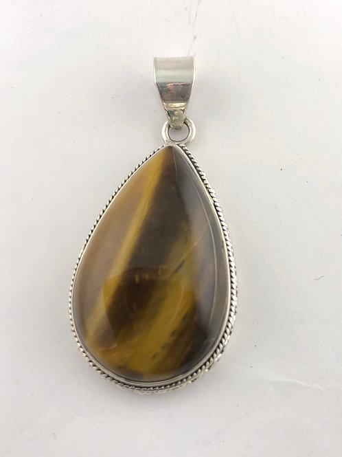 Sterling Silver and Tiger Eye gemstone Pendant