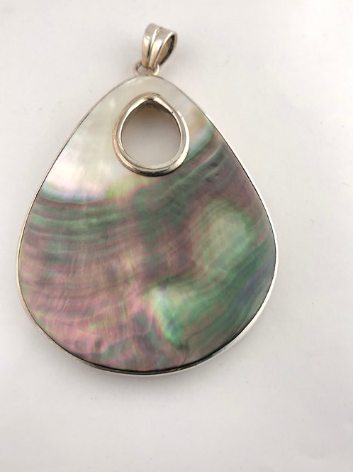 Sea Shell and sterling silver pendant