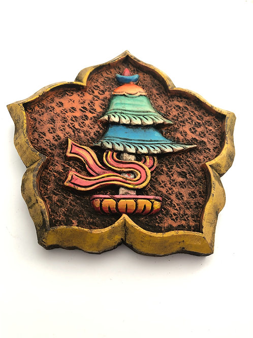 Handcrafted wooden auspicious wall hanging