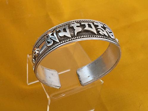 Silver Mantra Bracelet