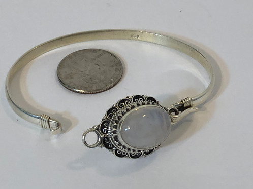 Sterling Silver Bracelet With Rainbow Moonstone Handmade In Patan Nepal This Brilliantly Colored Gemstone That Will Be Statement For Your Holiday