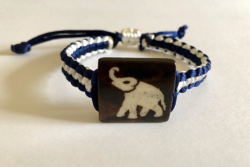 Knoted Healing bracelet - Good luck Elephant