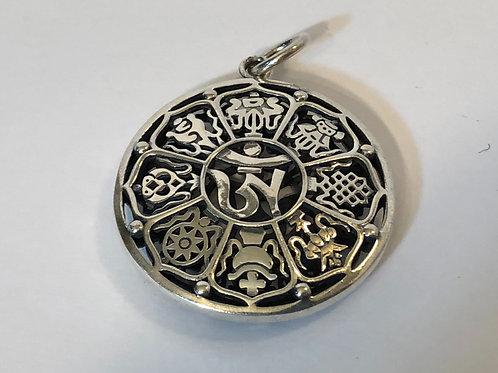 Eight Auspicious Symbols Pendant