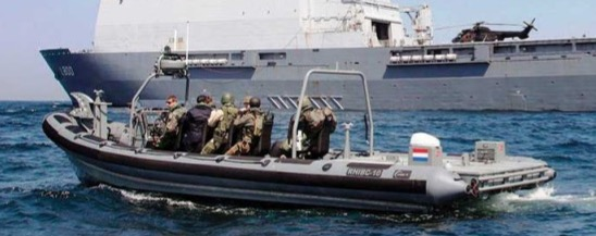 Scot Seats on Dutch Navy boarding RHIB