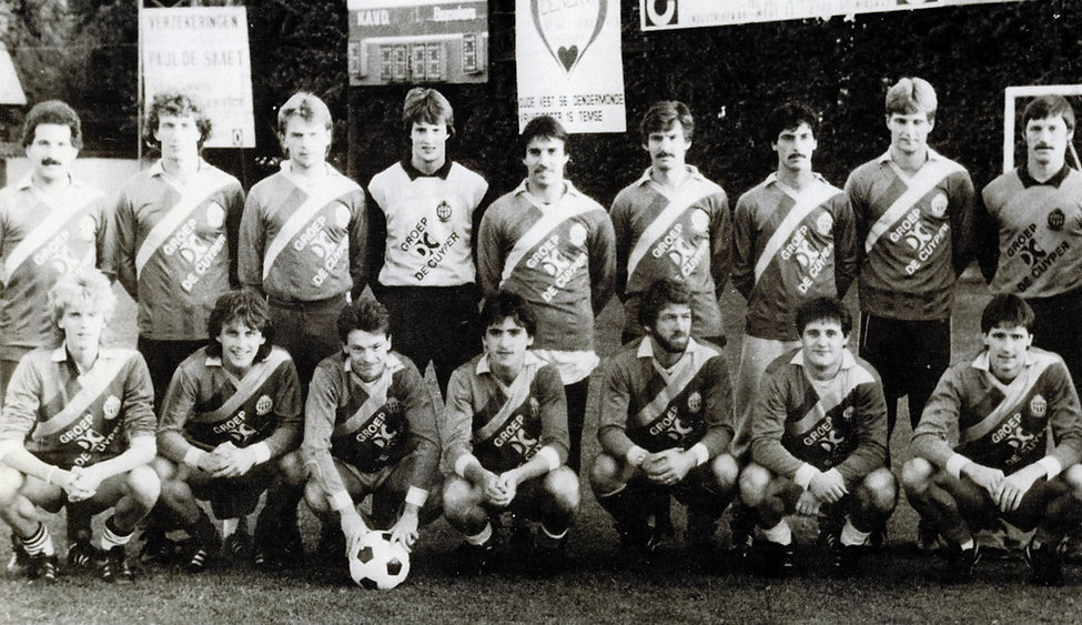 1984-1985 1ste provinciale met trainer B