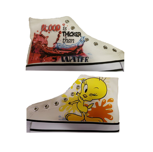These amazing shoes were printed on our Shoe Platen!