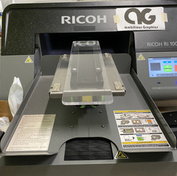 Here is a sleeve platen loaded on a printer ready to print on some sleeves!