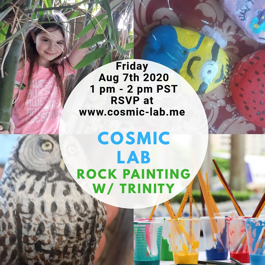 Trinity leads a Rock Painting Playshop