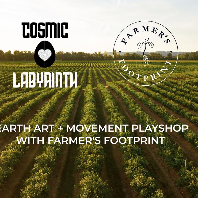 Earth Art + Movement Playshop with Farmer's Footprint