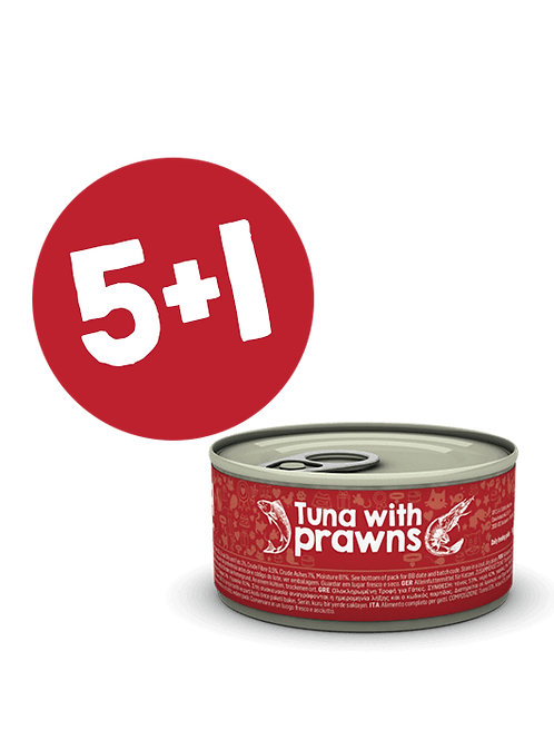 Tuna with Prawns 85g (5+1)