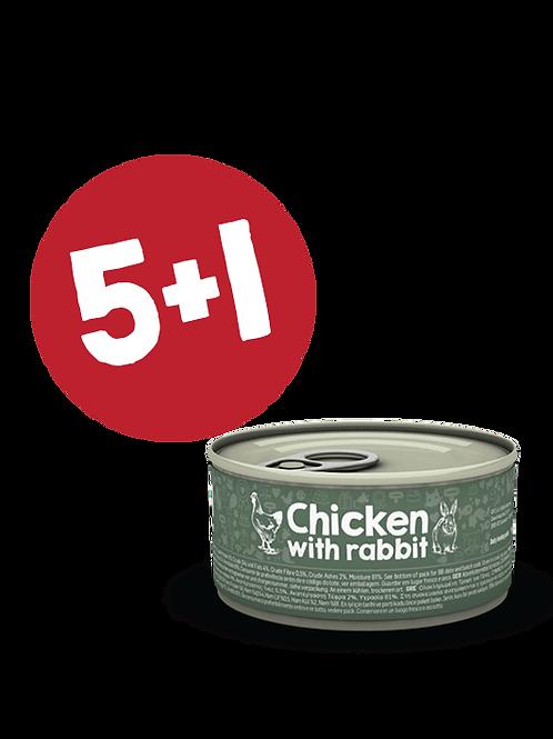 Chicken with Rabbit 85g (5+1)