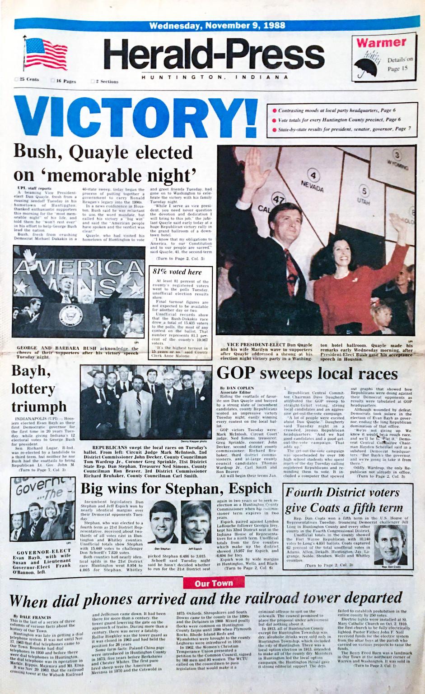Victory for Bush-Quayle