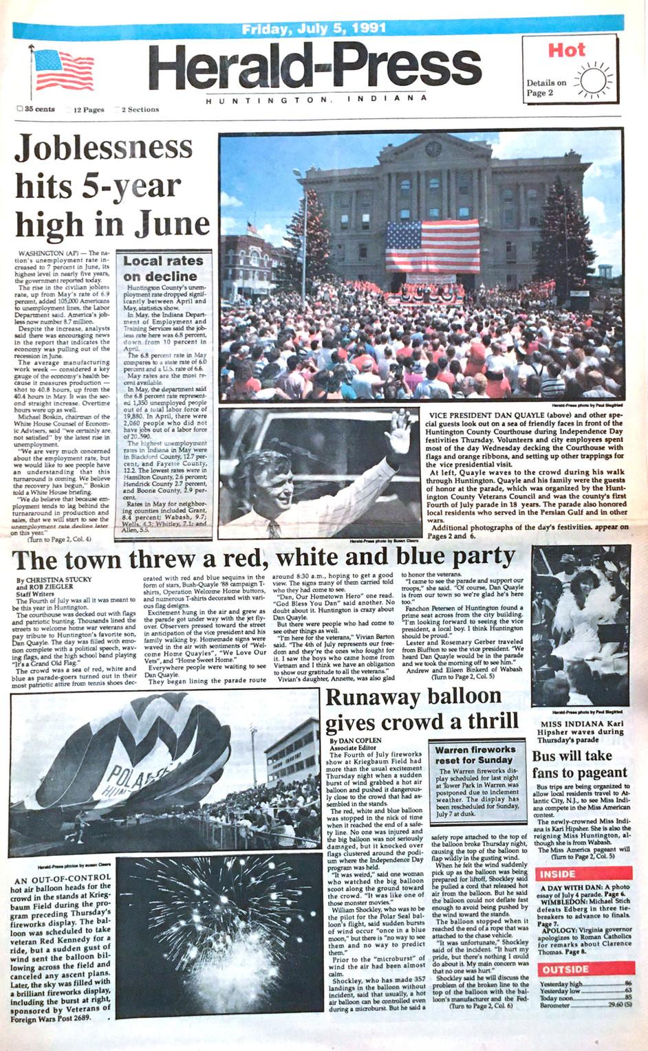 Quayle 1991 Visit 2
