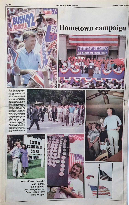 Quayle Re-election Rally II