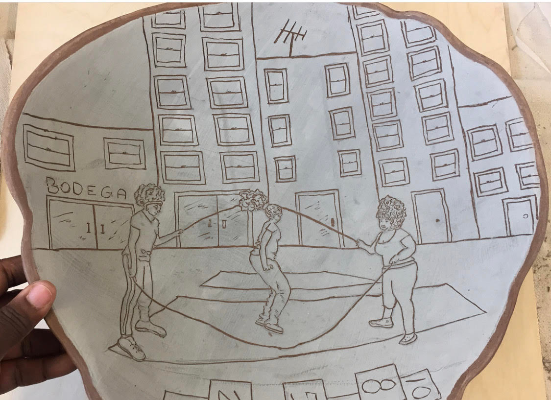 Double Dutch in The City (Drawn on Clay)
