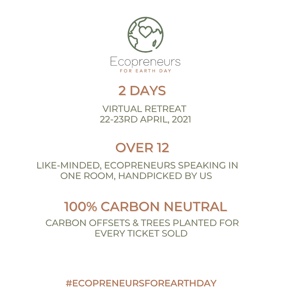 Ecopreneurs Earth Day virtual event