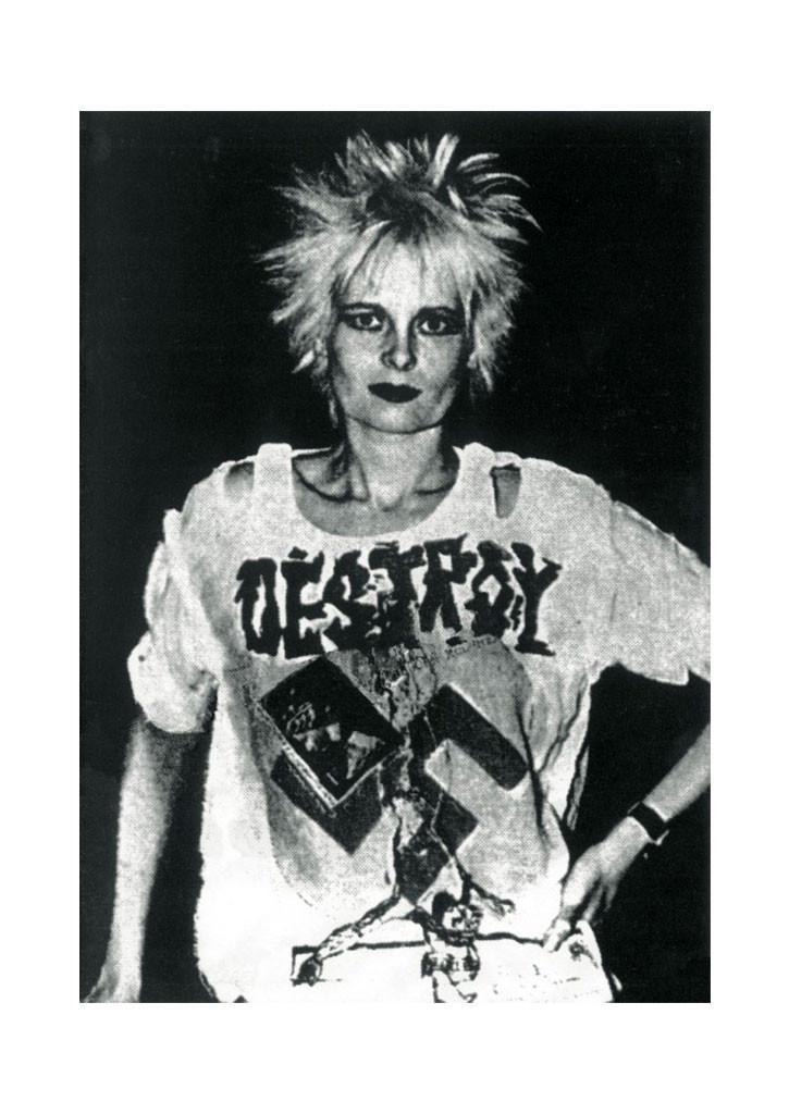 Vivienne Westwood in Destroy, anti-Nazi tshirt