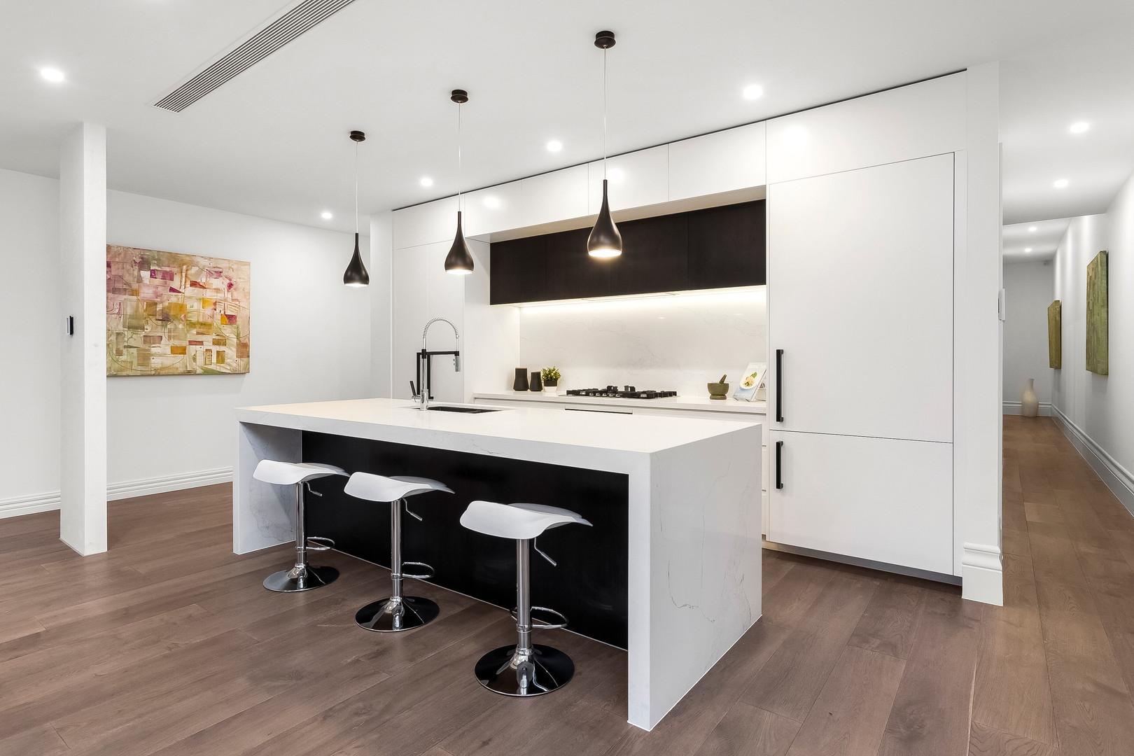 Rendered image of luxury kitchen