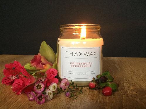 Thaxwax  Grapefruit & Peppermint 300ml candle