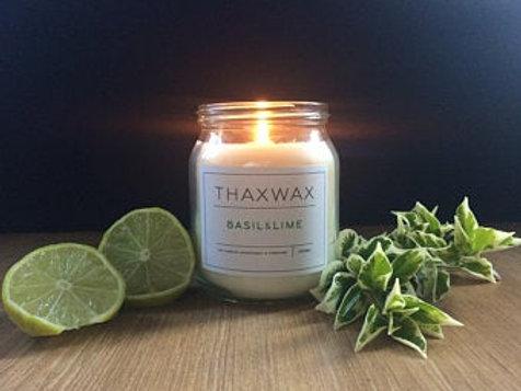 Thaxwax Basil & Lime 300ml candle