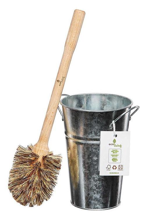 Plastic Free Toilet Brush & Holder Set - Smaller Brush (FSC 100%)