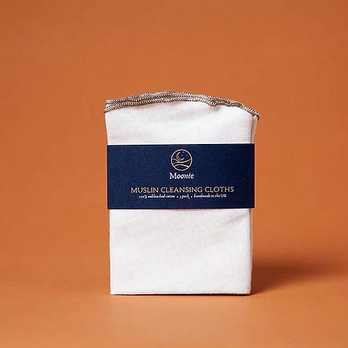Moonie - Muslin Cleansing Cloths 3pk