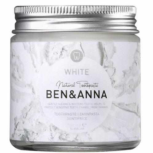 Ben & Anna Natural Toothpaste - White with Flouride