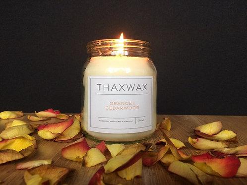 Thaxwax Orange & Cedarwood 300ml candle