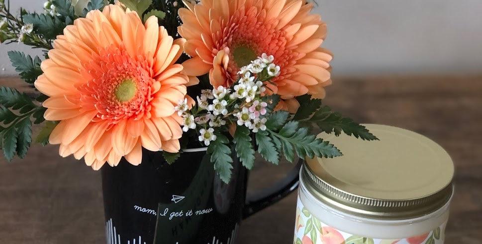 Cute Mug + Flowers